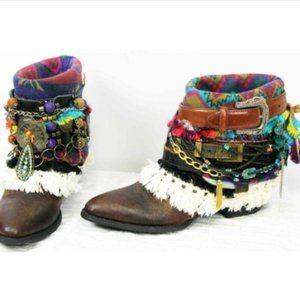 Ariat Women Boots Custom Sz 11 SW Fringe Beaded Co